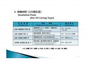 絕緣材料(UV固化型)